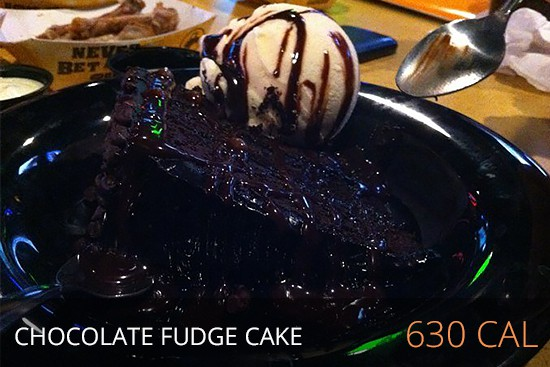 Buffalo Wild Wings Nutrition - Chocolate Fudge Cake 630 cal