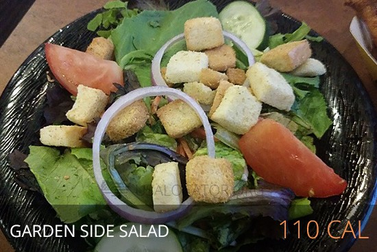Buffalo Wild Wings Nutrition - Garden Side Salad 110 cal
